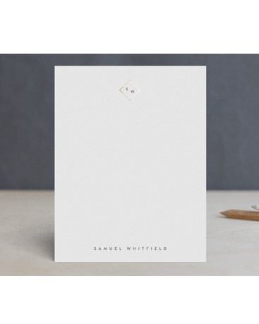 personalized white stationary