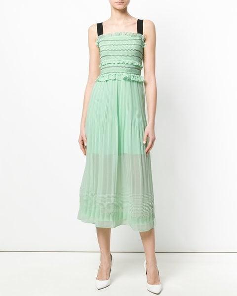 mint green midi engagement party dress