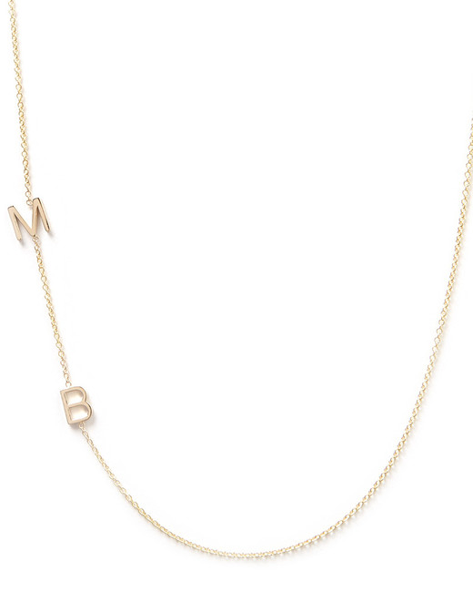 gifts for mom gold initials necklace