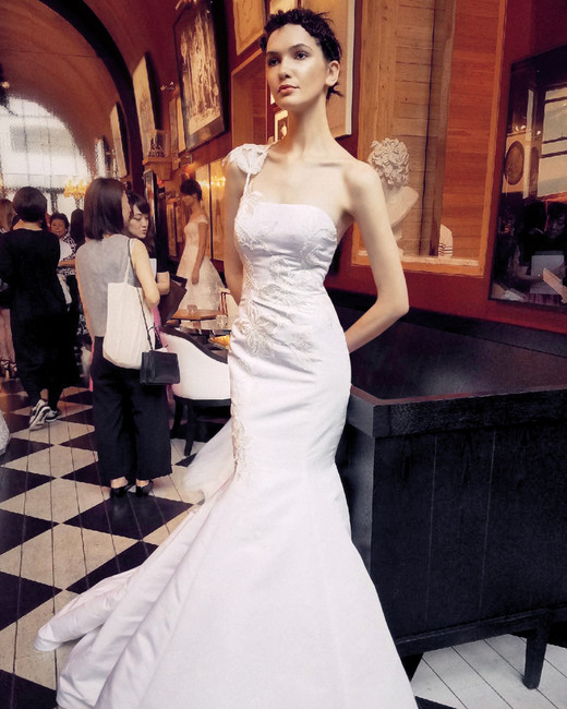 isabelle armstrong wedding dress fall 2018 one shoulder mermaid