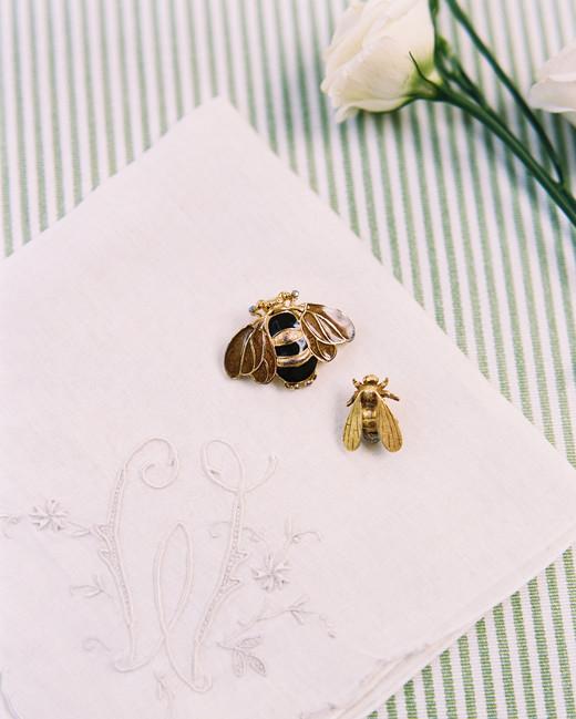 bee wedding ideas brooches