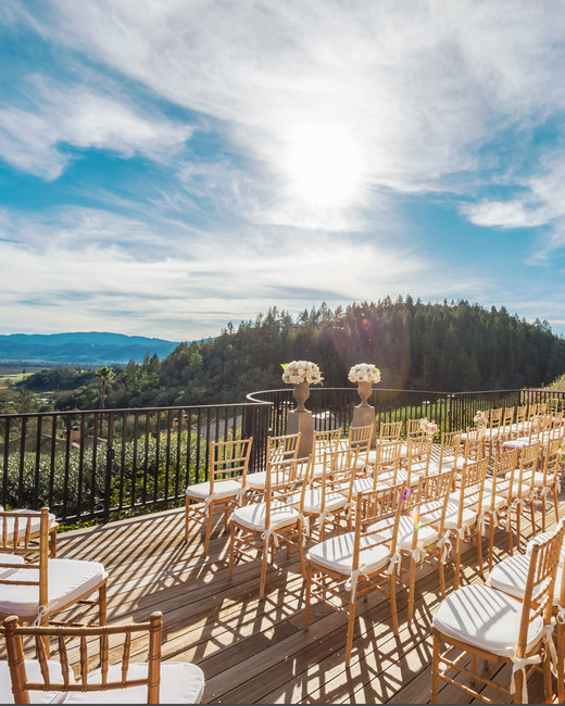 best california wedding venues auberge du soleil deck