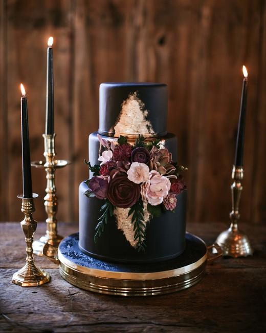 black wedding cake silhouette studio cakesbygina
