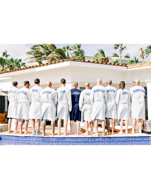 kourtney justin wedding mexico custom robes