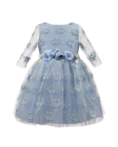 long sleeve flower girl dresses david charles embroidered