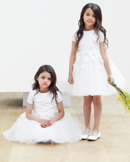 flower girl short Oscar de la Renta Spring 2018 Wedding Dress Collection