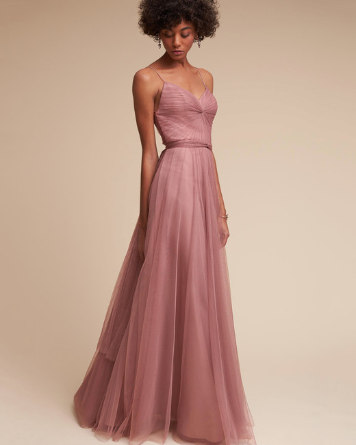 Strap Bridesmaid Dress Styles Photography Courtesy Of Bhldn