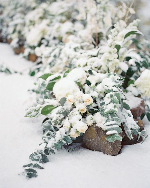 taylor cameron wedding ceremony snow
