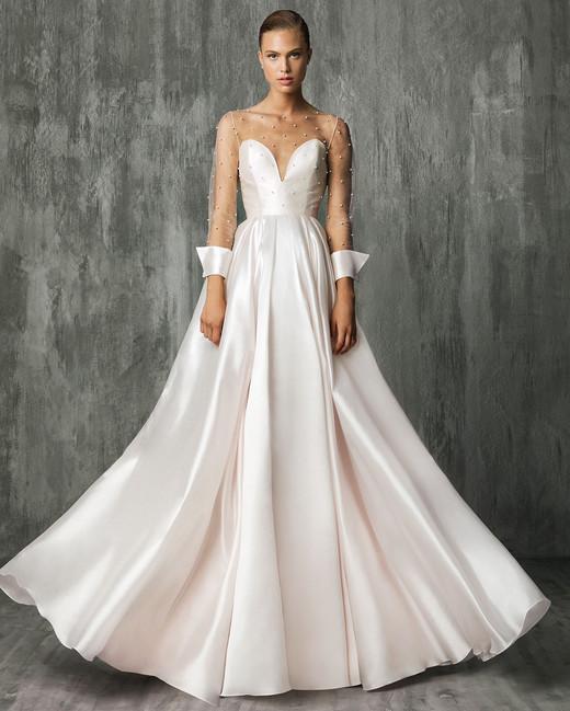 Victoria Kyriakides Pink Sweetheart Wedding Dress Fall 2018