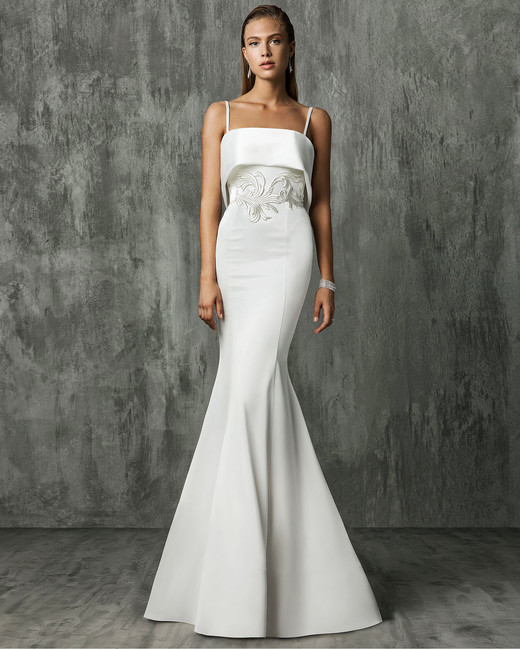 Victoria Kyriakides Spaghetti Strap Mermaid Wedding Dress Fall 2018