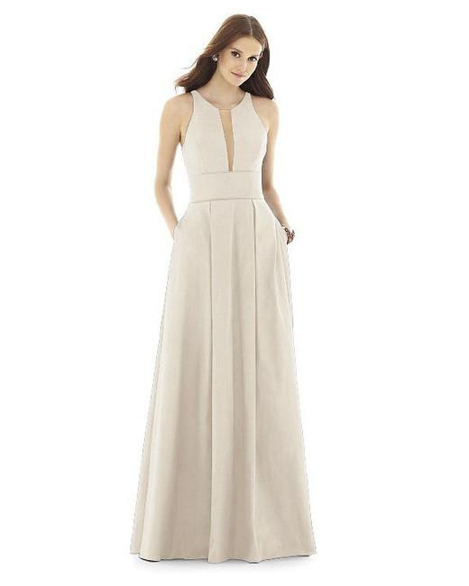 beige neutral bridesmaid dresses alfred sung