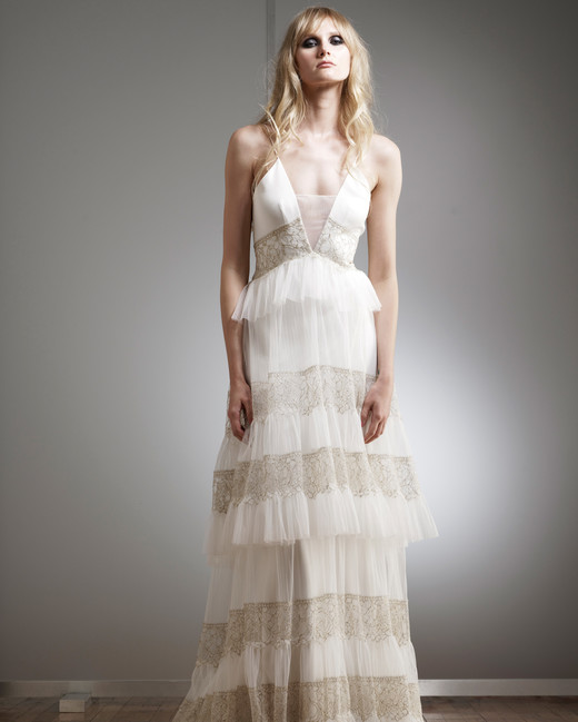 elizabeth fillmore v-neck tiered wedding dress spring 2018
