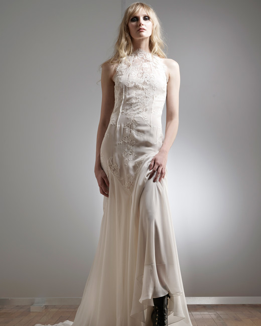 elizabeth fillmore high-neck wedding dress spring 2018