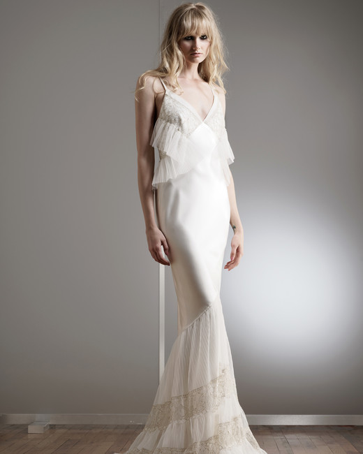 elizabeth fillmore lace spaghetti wedding dress spring 2018