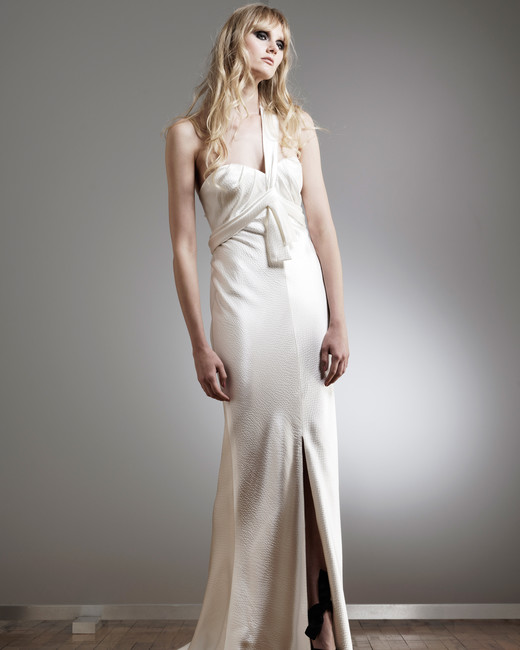 elizabeth fillmore one-strap trumpet wedding dress spring 2018