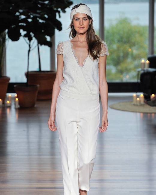 laure de sagazon fall 2018 asymmetrical closure jumpsuit