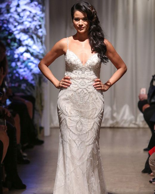matthew christopher 2018 spaghetti strap wedding dress