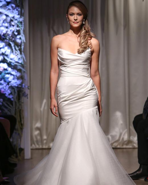 matthew christopher 2018 wrap chiffon trumpet wedding dress