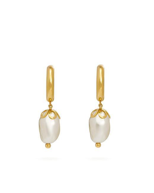Ornate Baroque-Pearl Earrings