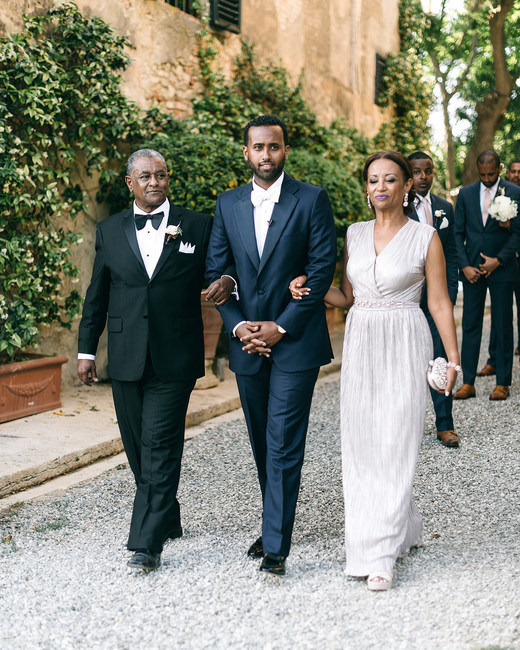 veronica mickias wedding groom during processional