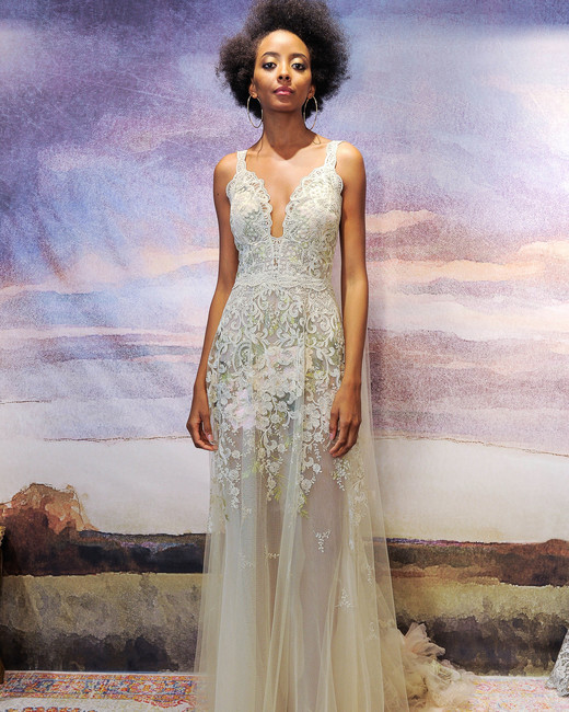 ffbfb0e43d7 claire pettibone lace with straps wedding dress fall 2018