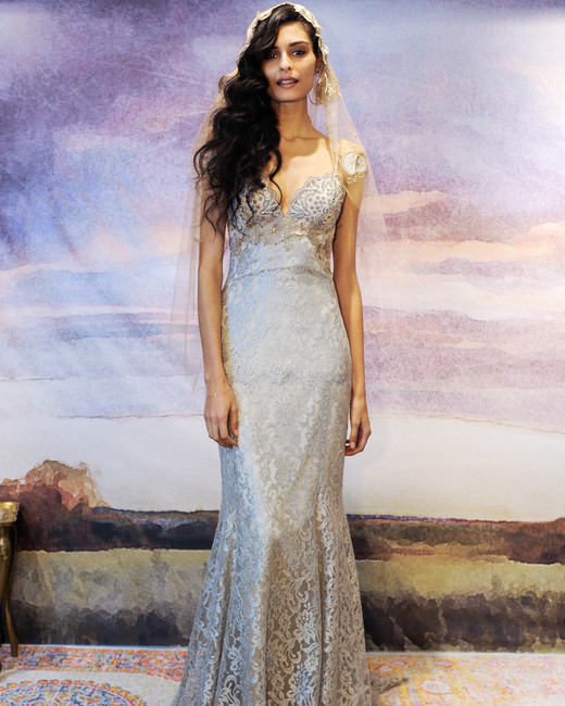 claire pettibone gray trumpet wedding dress fall 2018