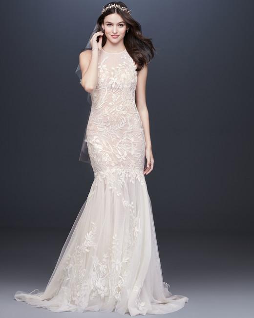 illusion high neck sleeveless lace mermaid wedding dress Melissa Sweet Spring 2020