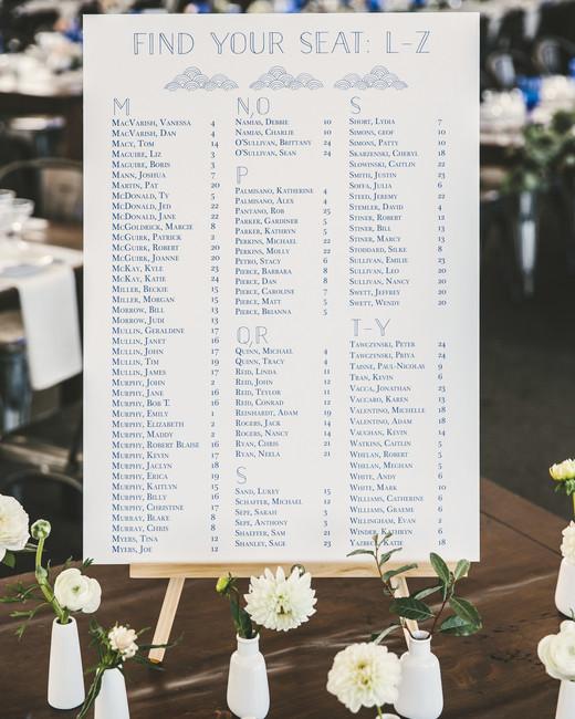 laura john wedding massachusetts seating chart