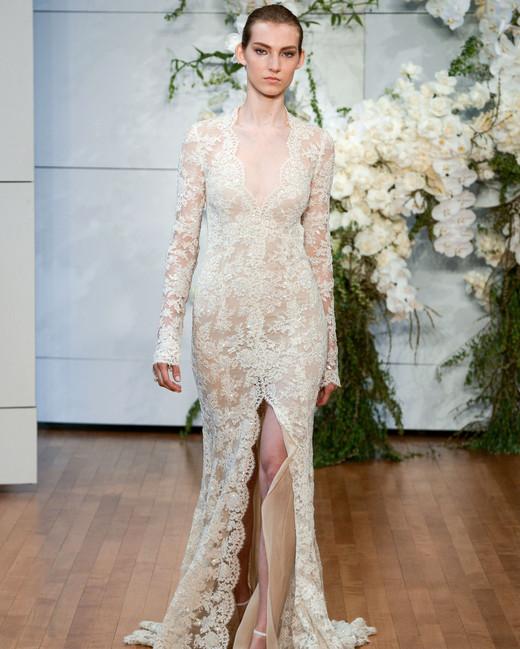 Flower Wedding Dress Monique Lhuillier