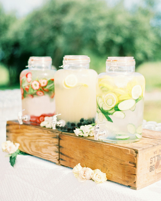 Wedding ideas for summer Wedding Theme Jars Of Flavored Water Martha Stewart Weddings 57 Summer Wedding Ideas Youll Want To Steal Martha Stewart Weddings