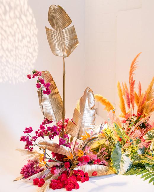 tashina huy colorful wedding ceremony backdrop