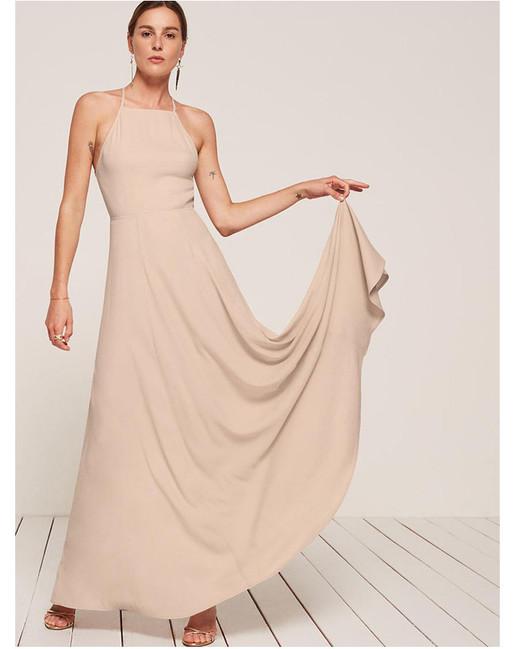beige neutral bridesmaid dresses reformation myrtle