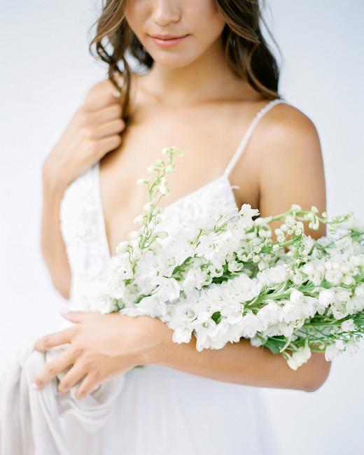 petite delphinium wedding bouquet