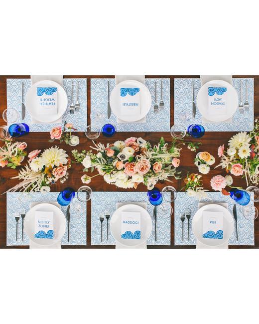 laura john wedding massachusetts place settings