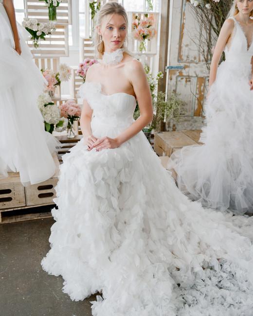 marchesa notte sheath sweetheart neckline bridal wedding dress fall 2018