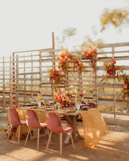 Golden Sienna reception decor