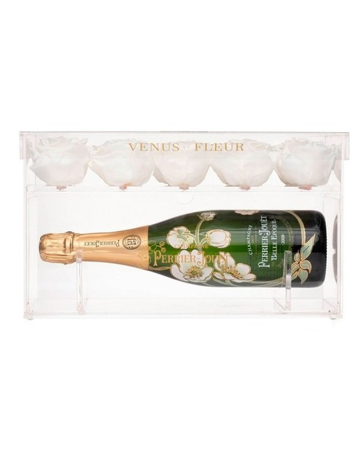 Champagne Keepsake and Eternity Rose Gift Set