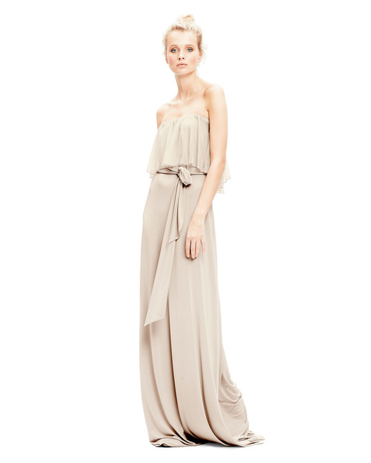 beige neutral bridesmaid dresses twobirds maya tulle