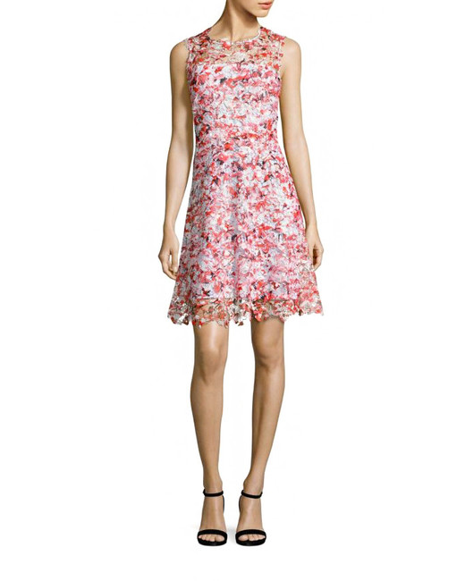 elie tahari kaisa floral lace dress