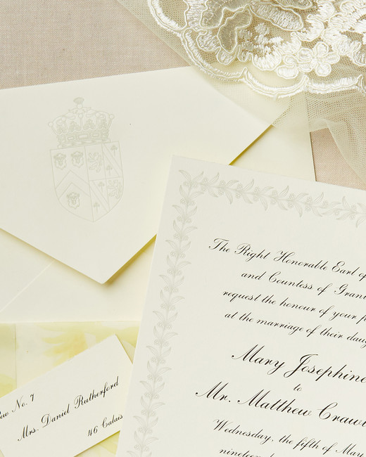 television inspired wedding invites downton abbey