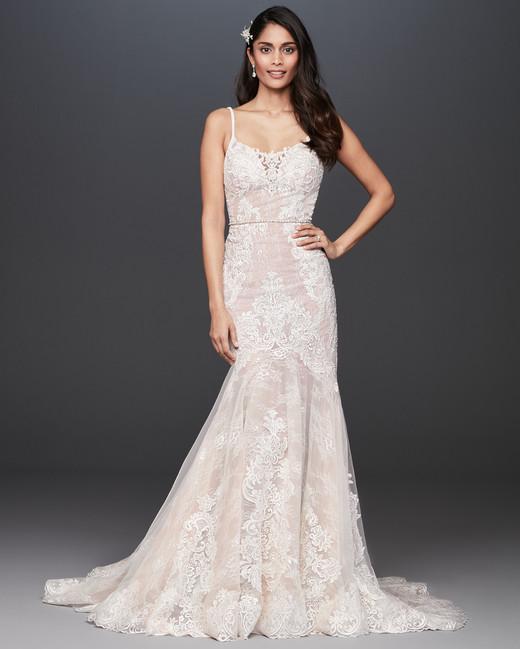 spaghetti strap scoop neck mermaid wedding dress Galina Signature Spring 2020