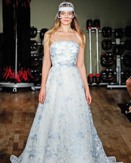 rivini by rita vinieris strapless blue floral wedding dress fall 2018