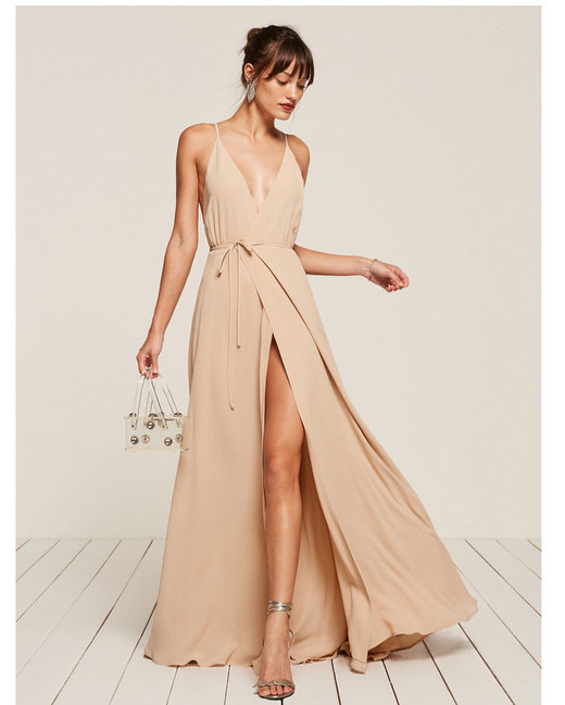 beige neutral bridesmaid dresses reformation callalily