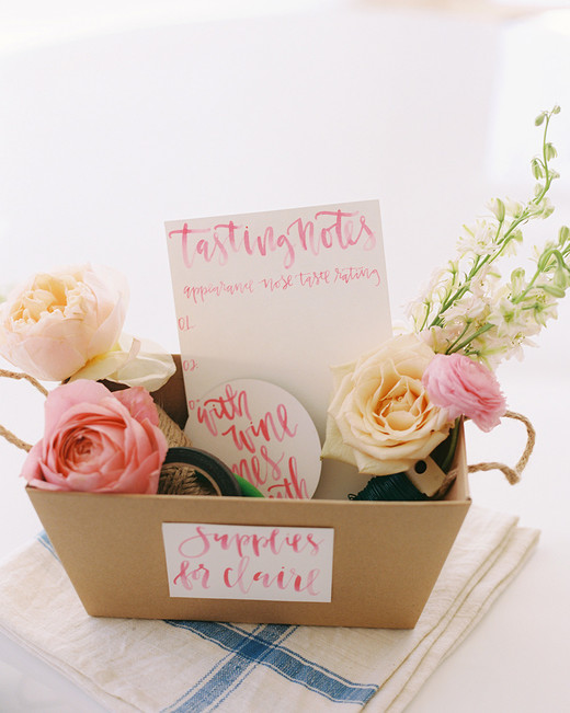 pink bridal shower rose tasting kit