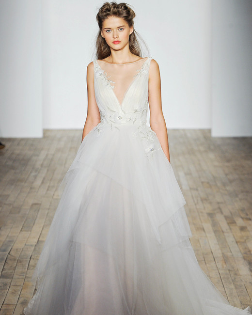 Allison Webb V-Neck A-Line Wedding Dress Fall 2018