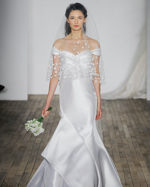 Allison Webb Off-the-Shoulder Mermaid Wedding Dress Fall 2018