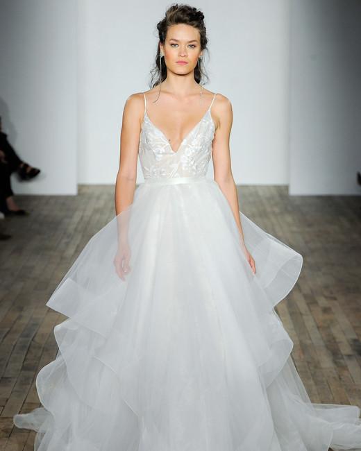 jlm blush by hayley paige wedding dress fall 2018 spaghetti strap vneck