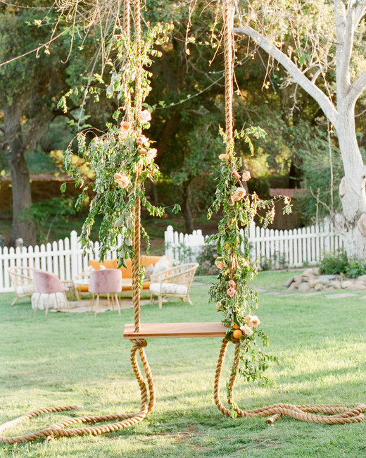 Tenley molzahn taylor leopold wedding swing greenery