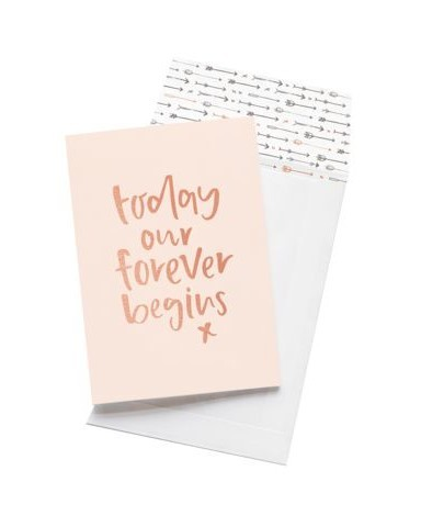 """Today Our Forever Begins"" Greeting Card"