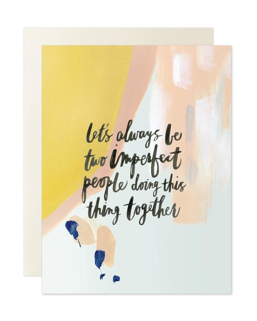"""Imperfect People"" Greeting Card"